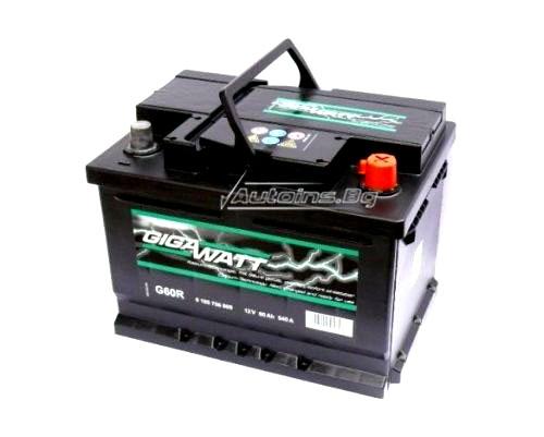 Купувам Акумулатор Gigawatt 60Ah 540 L+