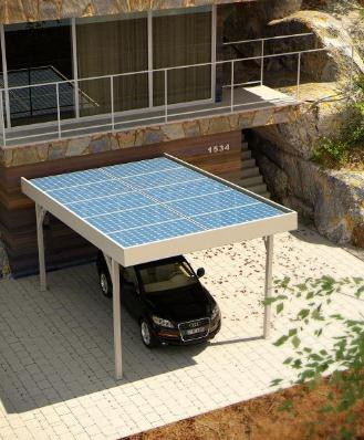 Купувам Единичен фотоволтаичен навес SIMPLE