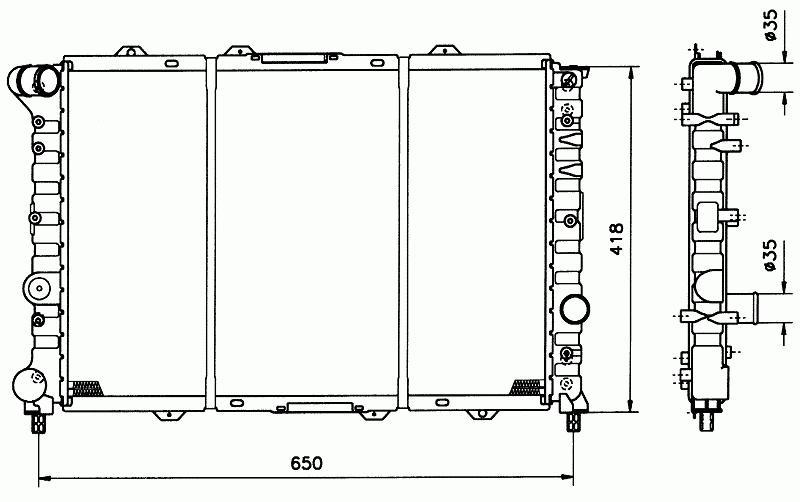 Купувам Воден радиатор за ALFA ROMEO 156
