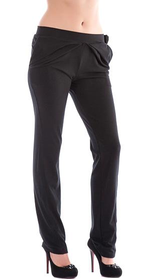 Купувам Черен дамски панталон от трико