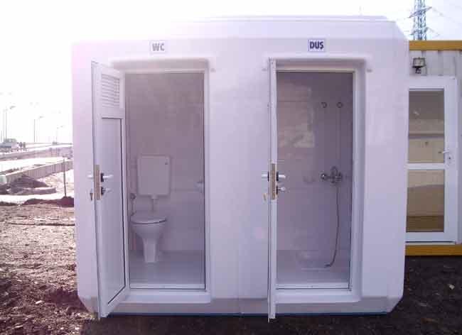 Полиестерни кабини с WC и душ