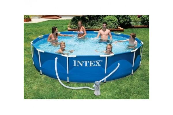 Купувам Сглобяем басейн INTEX с метална конструкция 366 х 76 см