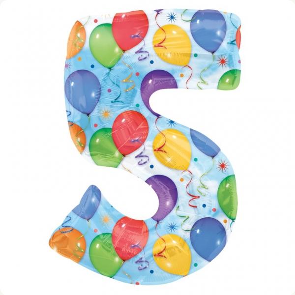 Купувам Балони и конфети цифра 5