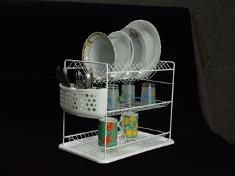 Купувам Сушилник за чинии на три нива с пластмасов кош или без кош