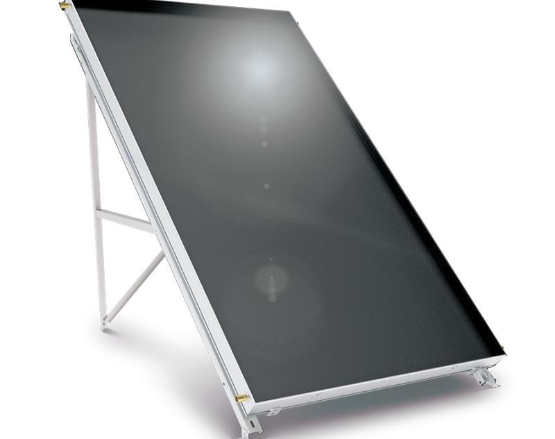 Слънчев колектор плосък Black inox 2 кв. м