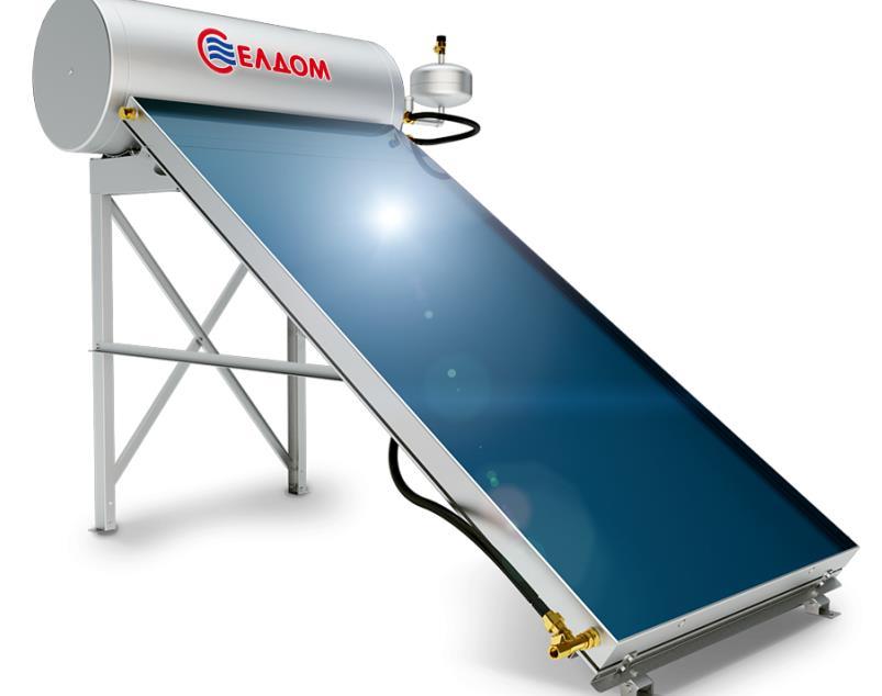Термосифонна система за хоризонтален покрив бойлер 120 л с колектор 2 кв.м.