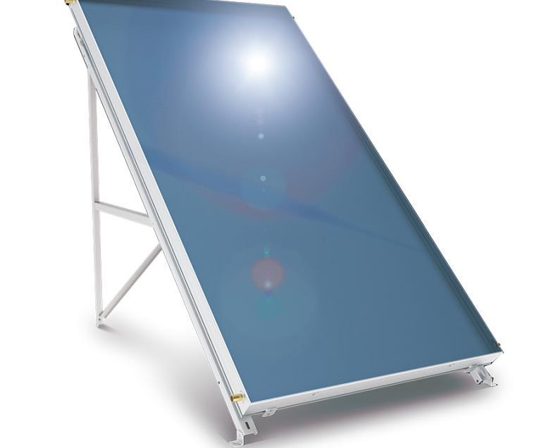 Слънчев колектор плосък с алуминиев оребрен абсорбер 2 кв. м