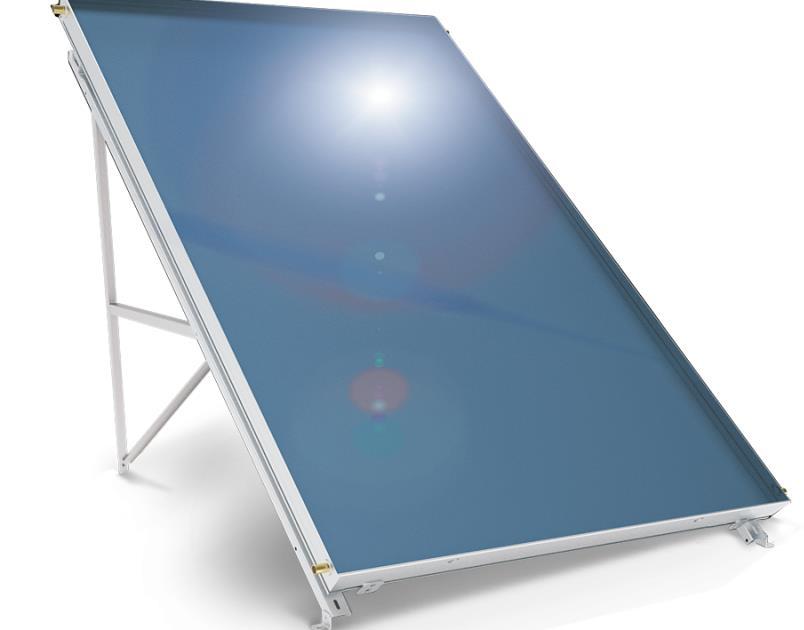 Слънчев колектор плосък с алуминиев оребрен абсорбер 2,5 кв. м
