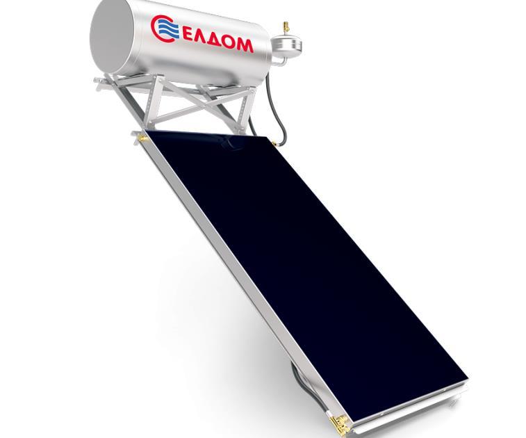 Термосифонна система за наклонен покрив бойлер 120 л колектор 2 кв.м.