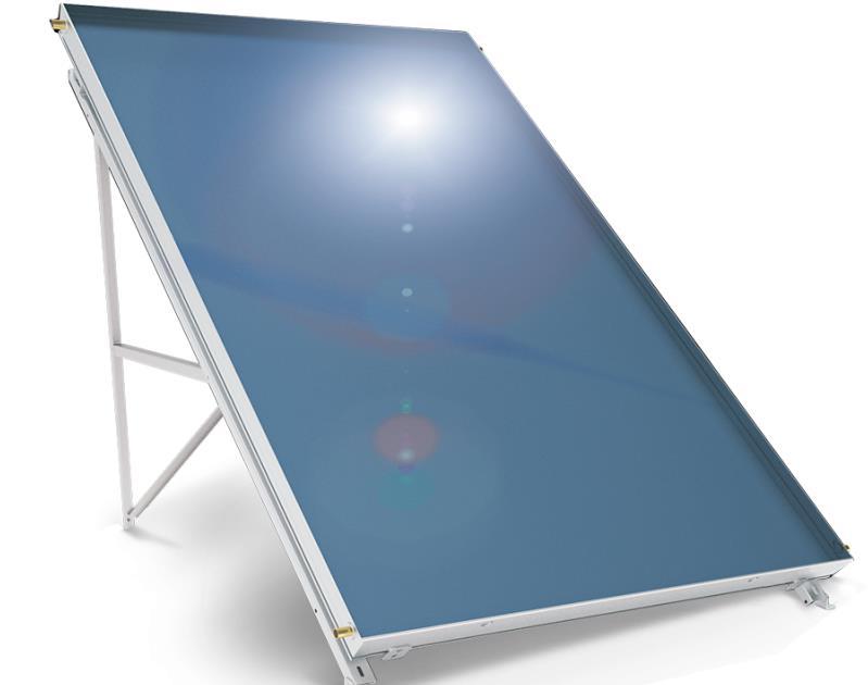 Слънчев колектор плосък алуминиев абсорбер 2,5 кв. м