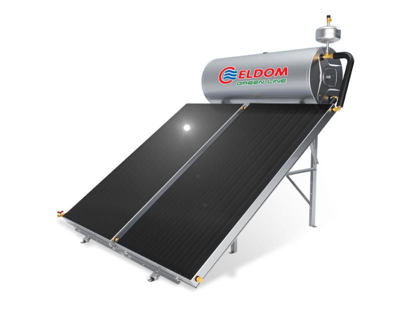 Термосифонна система за хоризонтален покрив бойлер 200 л колектор 2 x 1.5 кв.м.