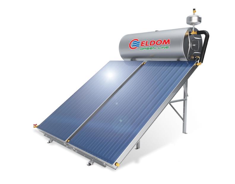 Купувам Термосифонна система за хоризонтален покрив бойлер 200 л колектор 2 x 1.5 кв.м.