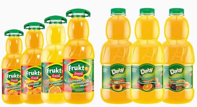 Питиета сладки газирани  - ябълка, лимонада, горски плодове