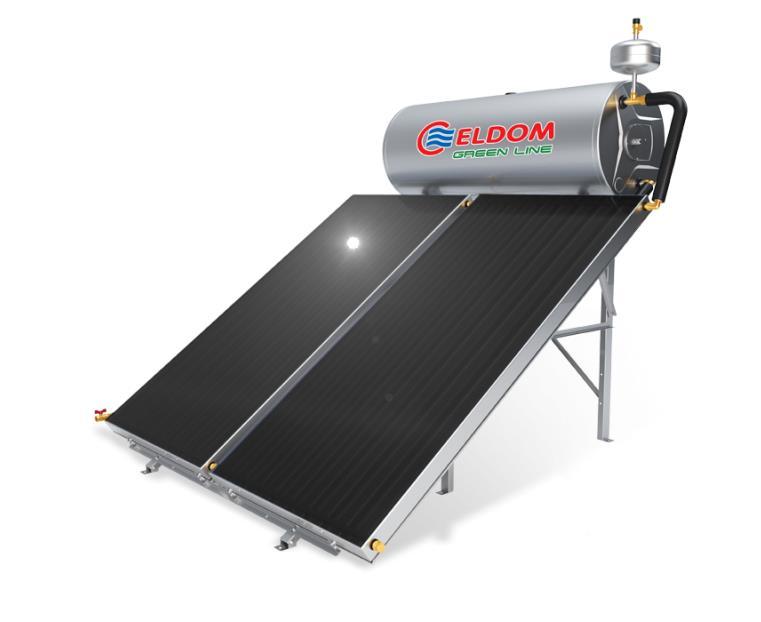 Купувам Термосифонна система за хоризонтален покрив бойлер 300 л колектор 2 x 2 кв.м.