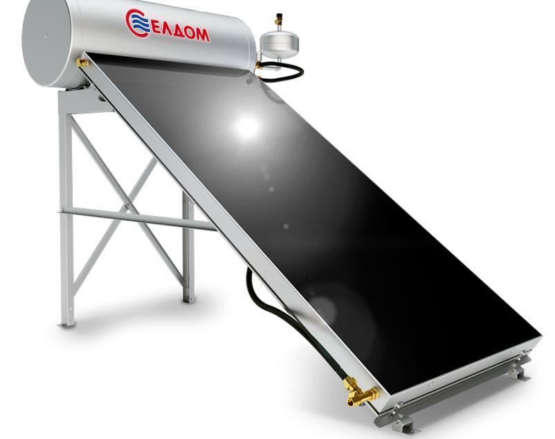 Купувам Термосифонна система за хоризонтален покрив бойлер 120 л колектор 2 кв.м.