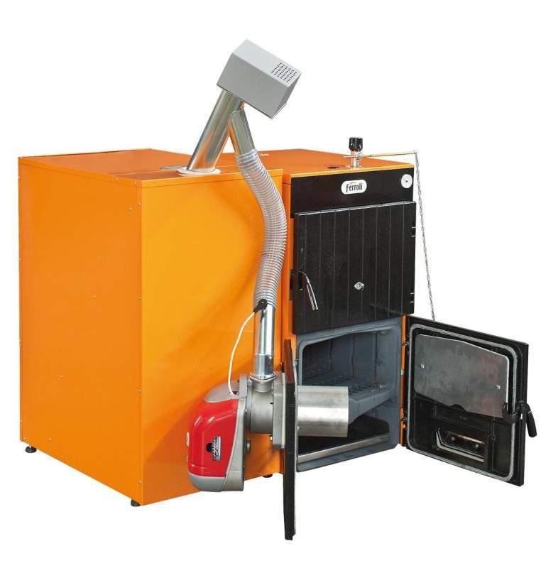 Купувам Пелетен чугунен котел FERROLI 22.5kW , комплект с горелка