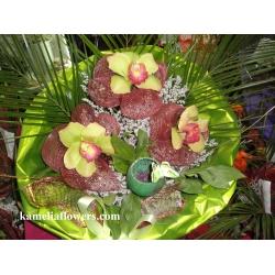 Купувам Букет от орхидеи, татарика, опаковка