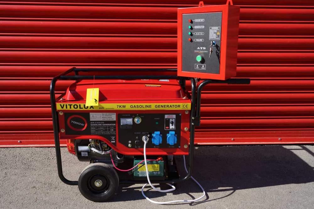 Купувам 7 KW Бензинови Монофазни Генератори VITOLUX с Автоматика и Автоматично Старт-Стоп табло