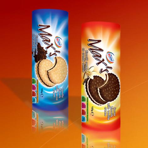 """Купувам Бисквити """"Max's"""" с крем какао и ванилия"""
