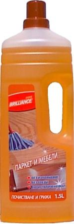 Купувам Препарат За Дърво И Ламинирани Повърхности Brilliance 1,5л