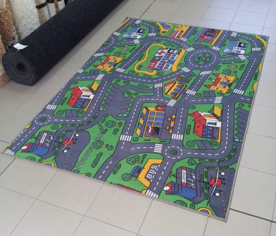 Купувам ПРОМОЦИЯ: Детски мокетен килим Пътища