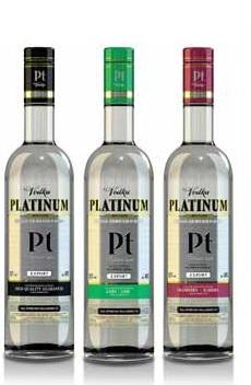 Купувам Руска водка Платинум чиста, лайм и червена боровинка
