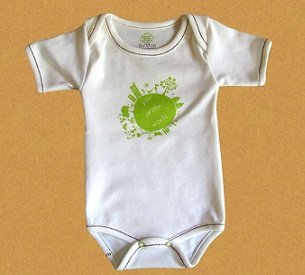 Купувам Боди с прехвърляне на раменете с къс ръкав - бебешки дрехи от органичен памук