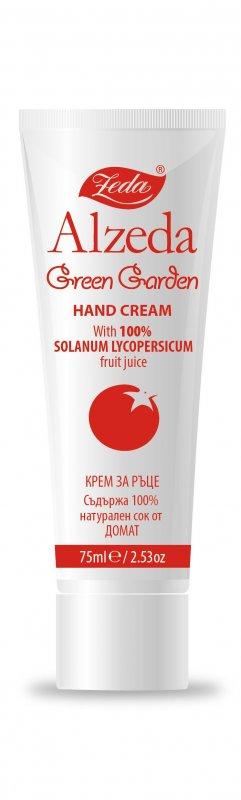 """Купувам Защитен крем за ръце """"Alzeda - Green garden"""" - със 100% натурален сок от домат"""