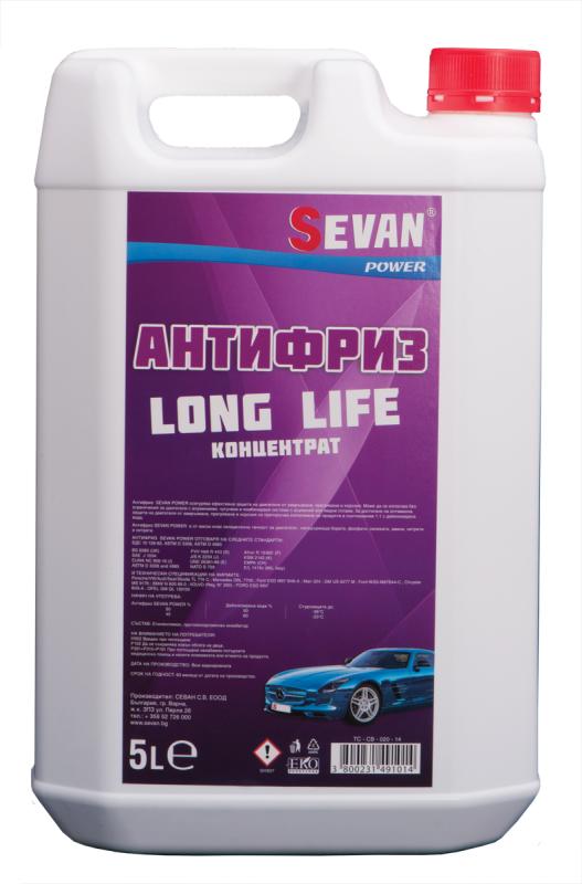 Купувам SEVAN ® АНТИФРИЗ LONG LIFE - Концентрат 5L