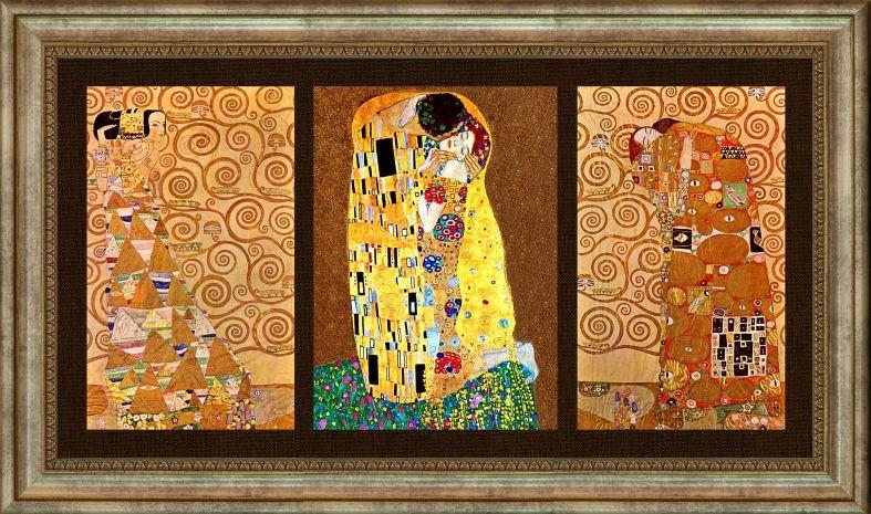 Купувам Репродукция Триптих Густав Климт с Целувката