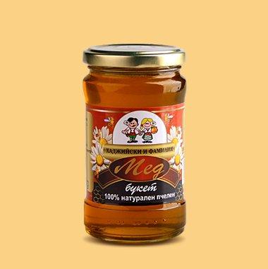 Купувам Билков мед - Букет, 400 г