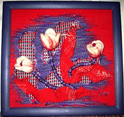"""Купувам Ръчно изработено текстилно пано """"Лалета"""""""