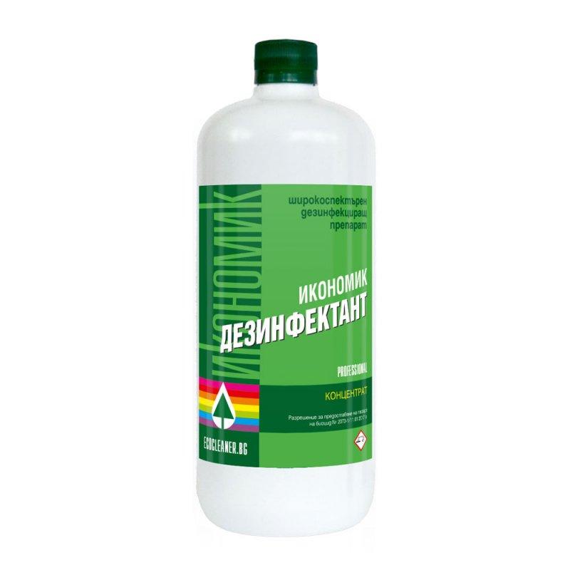 Купувам  ИКОНОМИК ДЕЗИНФЕКТАНТ Биоциден препарат с бактерицидно, фунгицидно, вирусоцидно и алгицидно действие. Концентрат отив ПЛЕСЕНИ и ФУНГИ * БЕЗ ХЛОР