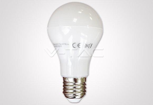 Купувам LED Крушка - 7W E27 A60 Термо Пластик