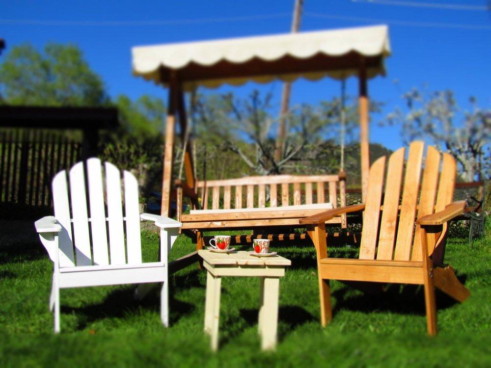 Купувам Градинско кресло - американски стил (Adirondack chair)
