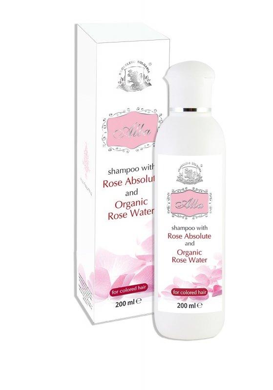 Шампоан за боядисана коса с розово абсолю АЛБА - 200 мл