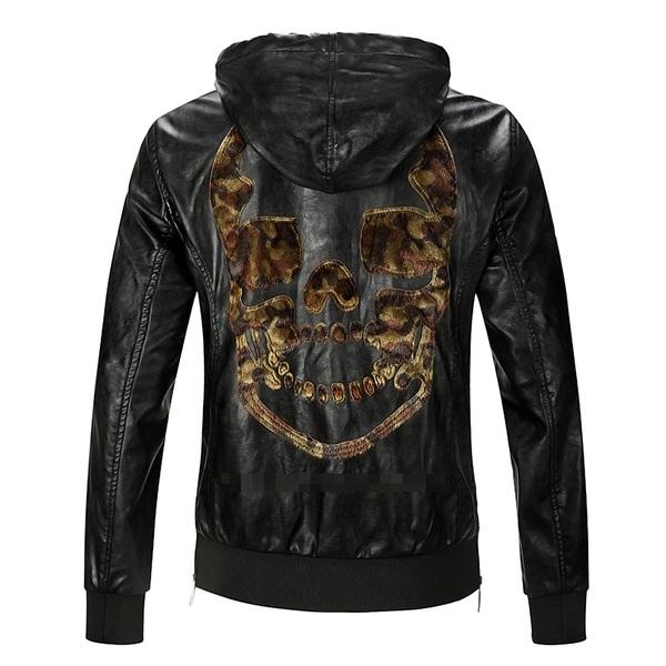 Купувам НОВО!! Мъжко Кожено Яке PHILIPP PLEIN Leopard Skull - size (M) и ( L) (XL)
