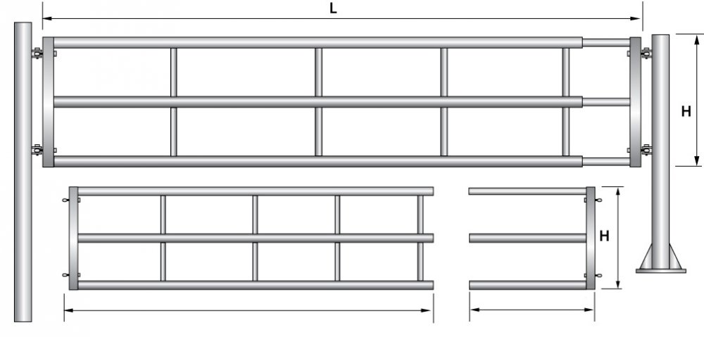Купувам Телескопична врата за животновъдни ферми - T3-1/2M