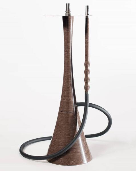 Наргиле ВИП Roden Egoisto Brown кафяв гланциран дизайнер издръжлив, изработен от изкуствен камък