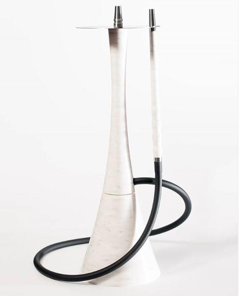 Наргиле VIP Roden Egoisto White бял гланциран дизайнер издръжлив, изработен от изкуствен камък