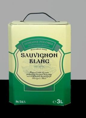 Бяло вино Совиньон Блан 3,0 л. Кутия