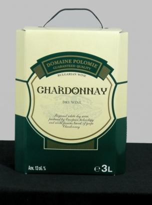 Бяло вино Шардоне 3,0 л. кутия