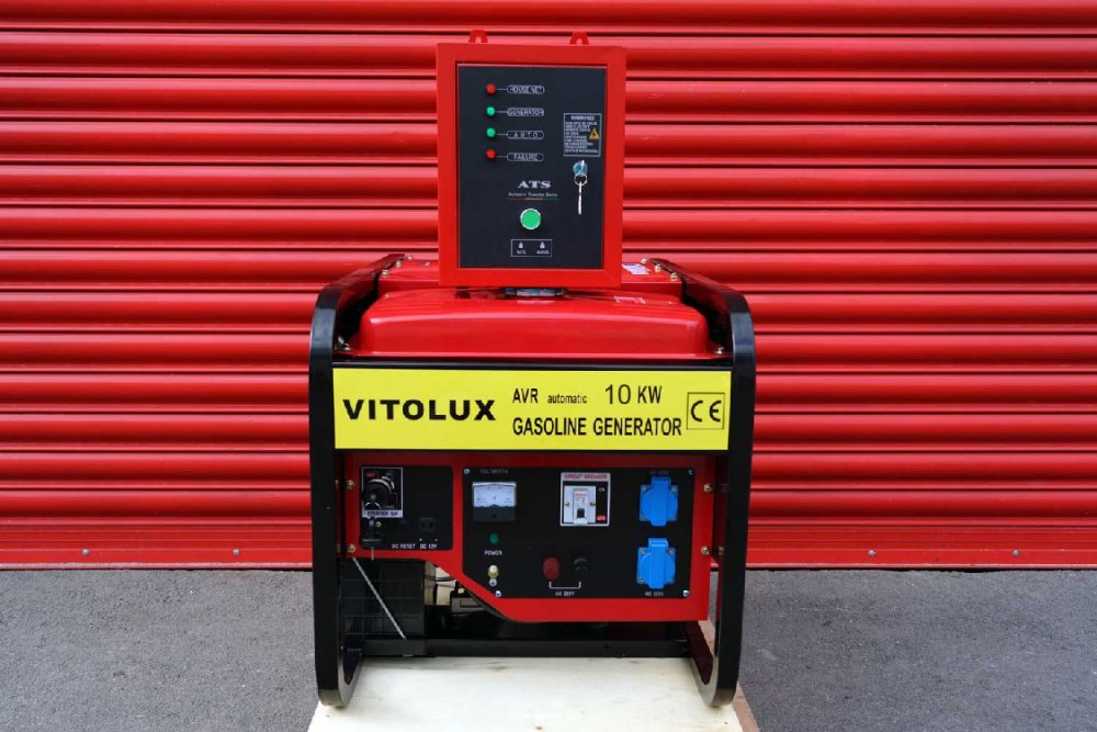 Купувам 10 KW Бензинови Монофазни Генератори VITOLUX с Автоматика и Автоматично Старт-Стоп табло