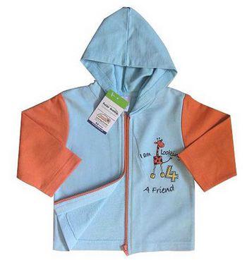 Купувам Суитчър с жирафче в синьо(6-9 месеца) Fuar Baby