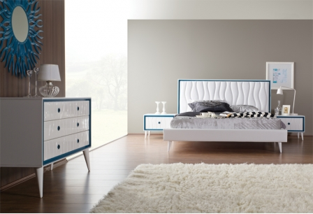 Спален комплект Retro Beyaz