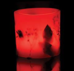 Свещи тип фенер червен цвят