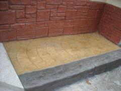 Настилка от щампован бетон
