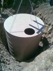 Резервоар за дъждовна вода, подземен монтаж