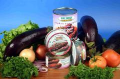 Пържен патладжан в доматен сос