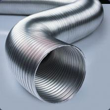 Air delivery pipes corrugated aluminum